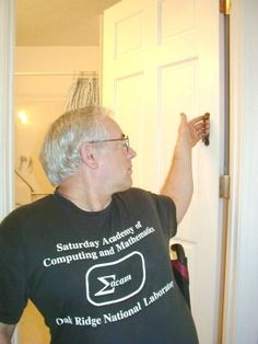 Closing a door behind you... install a grab handle close to the hinge so you can…
