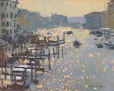 Ken Howard RA - Grand Canal, Venice http://www.colourandpaint.com/brand/royal-academy/collections/ken-howard-obe-ra.html