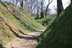 Deep Trenches @ Columbus-Belmont Stat Park in Ky. Civil War Battlefield