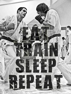 The life of a karate practitioner summed up in just a few words.