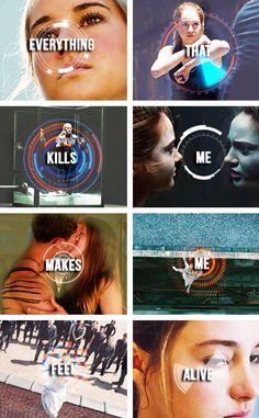 ~Divergent~ ~Insurgent~ ~Allegiant~ Counting Stars- one republic Divergent Memes, Divergent Hunger Games, Divergent Fandom, Divergent Trilogy, Divergent Insurgent Allegiant, Insurgent Quotes, Counting Stars, One Republic, Tris Y Tobias