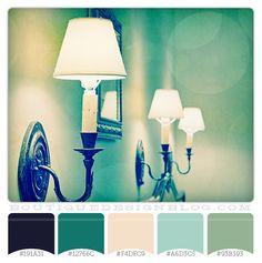 A Night to Remember – Aqua, Navy & Cream color scheme