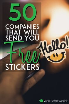 Companies That Will Send You Completely Free Stickers - Finance tips, saving money, budgeting planner Stuff For Free, Free Stuff By Mail, Free Preppy Stickers, Free Stickers Online, Ways To Save Money, Money Tips, Freebies By Mail, Saving Money, Money Savers