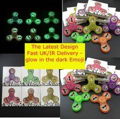 Fidget Spinner glow in dark emoji Spin plastic Aluminum EDC Bearing Stress smile