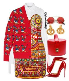 """""""Untitled #336"""" by thedemidorsey ❤ liked on Polyvore featuring Moschino, Gucci, Christian Louboutin and Chanel"""