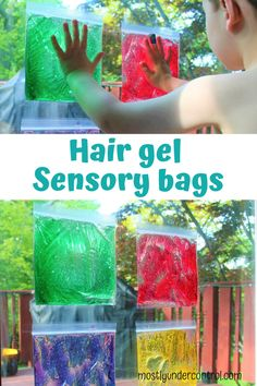 Sensory Play with Hair Gel - Mostly Under Control