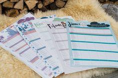 Der österreichische Familienplaner zum Aufhängen mit Foldback-Klammer Office Supplies, Paper Mill, Presents For Mom, Tips, Working Holidays, Elephants