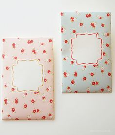 Printable Shabby Chic money packets or mini envelopes   DESIGN IS YAY!