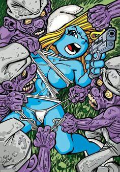 Zombie Smurf Fight