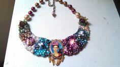 Collar Frida kahlo#diseñado por deseos divinos Gdl