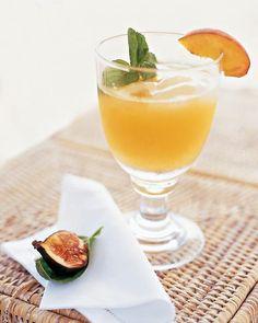 Peach Margaritas with Peach Wedges Recipe