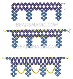 Free pattern for necklace OPERA | Beads Magic. Use: seed beads 11/0, round beads 4-6mm. Page 2 of 3