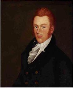 Zedekiah Belknap (1781-1858) Portrait of a red-haired gentleman,  oil on canvas,  26 x 21½ in. – Literature: American Folk Art (Amherst, Massachusetts, 1974), no. 22. Peter H. Tillou, Where Liberty Dwells: 19th-Century Art by the American People (New York, 1976), figs. 18-19.