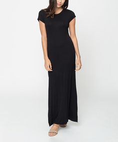 Love this Black Keyhole Maxi Dress on #zulily! #zulilyfinds