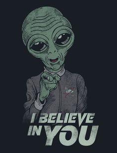 i believe in you Art Print by badbasilisk Aliens And Ufos, Ancient Aliens, Alien Drawings, Art Drawings, Arte Do Hip Hop, Alien Aesthetic, Psychadelic Art, Alien Tattoo, Alien Art