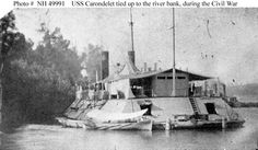 USS Carondelet, a Cairo Class ironclad river gunboat, was built in St. Louis for…