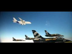 Breitling Jet Team : Breitling Jet Team and Airbus A380 Formation Flight