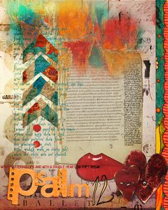Cover Page: Psalm-12 by Nevermore 12. Art Journal Caravan 2013