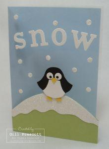 Snow penguin card