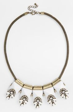 Sole Society Crystal & Stone Necklace available at #Nordstrom