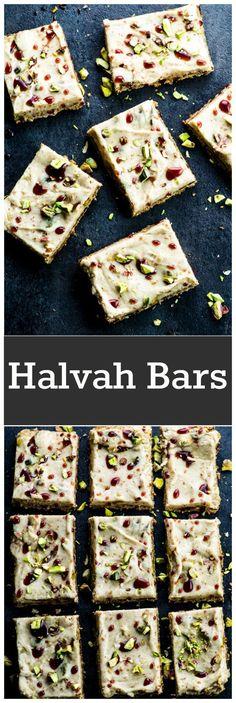 Vegan Halvah Bars