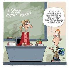 C'est pourtant simple: Je veux que vous me vouvoyez à ma vue! Matériel pédagogique pour enseignants sur mieuxenseigner.ca/