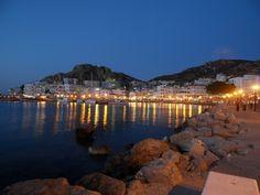 Evening lights in Pigadia, Karpathos