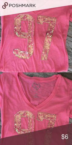Aero shirt Worn once...number is sequins Aeropostale Tops Tees - Short Sleeve