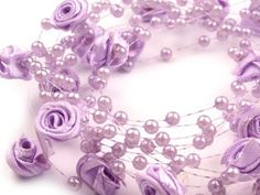 Beads on silicone Ø14mm footage roses, length 30m on bobbin