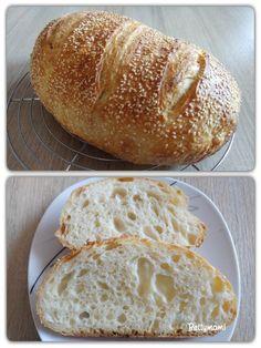 Egyszerű kovászos kenyér – Alaprecept | Betty hobbi konyhája Bread Baking, Herbal Remedies, Recipe Box, Bread Recipes, Herbalism, Vegetarian Recipes, Bakery, Paleo, Food And Drink