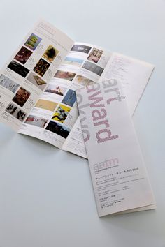 art award tokyo marunouchi 2010 Pamphlet Design, Leaflet Design, Book Design Layout, Print Layout, Brochure Layout, Brochure Design, Editorial Layout, Editorial Design, Typography Layout