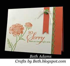 """Crafts by Beth: So Sorry, Field Flowers 
