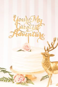 You're My Greatest Adventure Cake Topper - Soirée Collection von BetterOffWed auf Etsy https://www.etsy.com/de/listing/229225913/youre-my-greatest-adventure-cake-topper