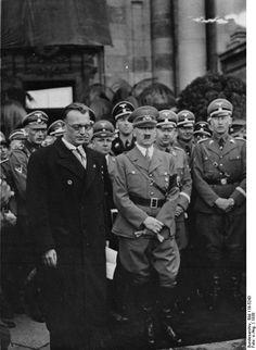 Seyß-Inquart, Hitler, Himmler, and Heydrich in Vienna, Austria, 1938