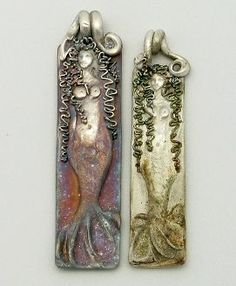 bail polymer clay mermaid or goddess figures Mermaid Pendant, Mermaid Jewelry, Mermaid Art, Mermaid Tails, Polymer Clay Art, Polymer Clay Jewelry, Jewelry Art, Cat Jewelry, Jewellery