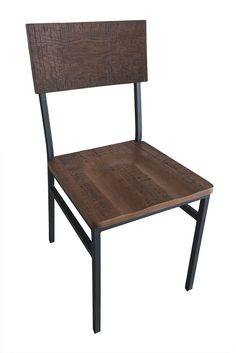 The Henry Steel Chair With Distressed Wood