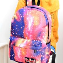 2017 Fashion Unisex Stars Universe Space Printing Backpack School Book  Backpacks British-flag Shoulder Bag Description  Features  Brand New! 07810cecf6