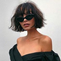MOST PRETTY SHORT WAVY HAIR WITH BANGS IDEAS – crazyforus Check out these short wavy hair ideas with bangs; from Short Haircut When it comes to updating your hairstyle, simply opt for bangs. Just look the hairstyle ideas below and… Continue Reading → Short Hair With Bangs, Short Hair Cuts, Curly Bob With Fringe, Bangs Short Hair, Short Wavy Hairstyles, Short Wavy Bob, Bobs For Wavy Hair, Brunette Bob With Bangs, Women Short Hair