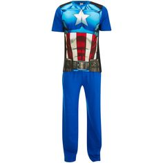 Marvel Men's Captain America Pyjama Set Blue #CaptainAmerica