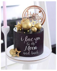 Elegant Birthday Cakes, Beautiful Birthday Cakes, Birthday Cakes For Men, Birthday Cake For Boyfriend, Birthday Cake For Husband, Boyfriend Cake, Chocolate Birthday Cake Decoration, Birthday Cake Decorating, Happy Anniversary Cakes