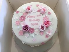 Christening cakes, cake makers Bristol: Baby showers, Naming day, Blessings, Holy Communion Brithday Cake, 80 Birthday Cake, Birthday Cake With Flowers, Elegant Birthday Cakes, Cakes Without Fondant, Fondant Cakes, One Tier Cake, Mom Cake, Gateaux Cake