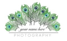 Peacock Logo for Photography Buisness by CandlesandCrochets