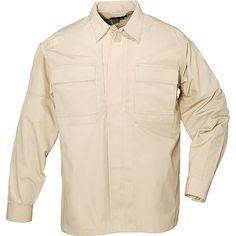5.11 Ripstop TDU Long Sleeve Shirt, TDU Khaki, XS