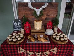 lumberjack party dessert ideas donuts cupcakes