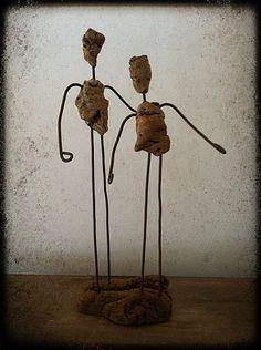 statuette, statuette récup, fait main, fil de fer-copie-6