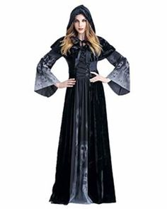 Halloween Witch Costume For Women Adult Sexy Magic Girl Cosplay Black Dress Festival Party Wear Role Playing Female Fancy Dress Witches Costumes For Women, Witch Costumes, Pirate Costumes, Cat Costumes, Witch Cosplay, Halloween Cosplay, Halloween Costumes, Black Dress Outfits, Dress Outfits