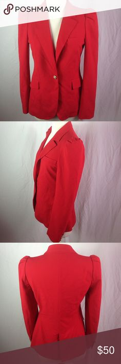 Zara Woman Princess Kate Red Puff Sleeve Blazer Sm Zara Woman Red Puff Sleeve Brass Button Blazer Sm. Excellent condition with replacement buttons attached. This is the exact Blazer Princess Kate is wearing in this picture. Please ask questions before you buy, thanks! Zara Jackets & Coats Blazers