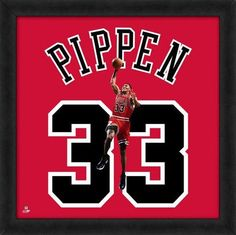 Scottie Pippen Framed Chicago Bulls 20x20 Jersey Photo