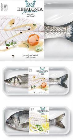 An amazing packaging design! Food Branding, Food Packaging Design, Print Packaging, Packaging Design Inspiration, Web Design, Fish Design, Label Design, Graphic Design, Package Design