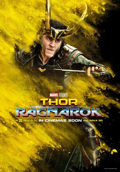 Well there goes my hope of living through Ragnarok. Loki's official poster!!